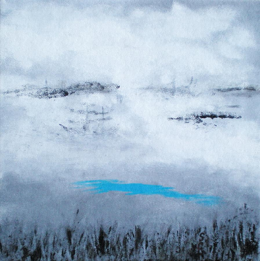 Abstract Painting - Lost In Fog Near The Shore by Scott Haley