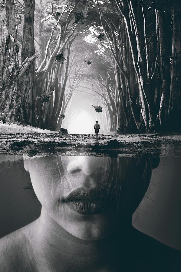 Woman Digital Art - Lost memories by Mihaela Pater