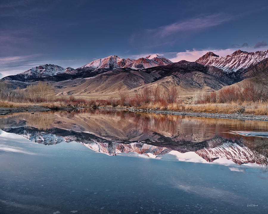 Altitude Photograph - Lost River Range Winter Reflection by Leland D Howard