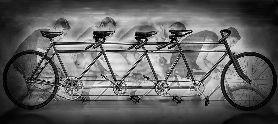Lots of Wheels in Black and White by Debra and Dave Vanderlaan