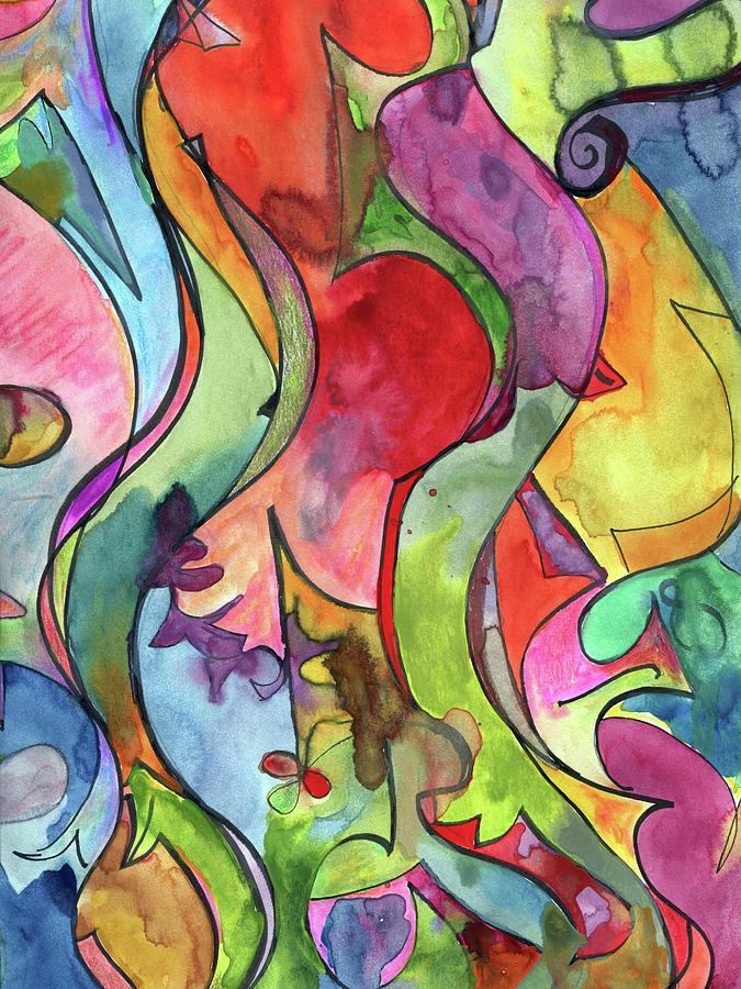 Watercolor Painting - Lotsa by Ceil Diskin