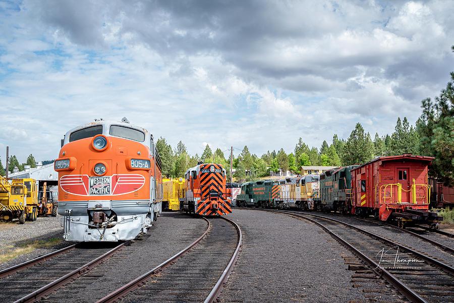 Freight Trains Photograph - Lotsa Locomotives by Jim Thompson
