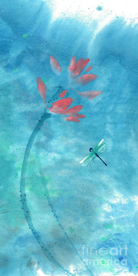 Lotus and dragonfly by Mui-Joo Wee
