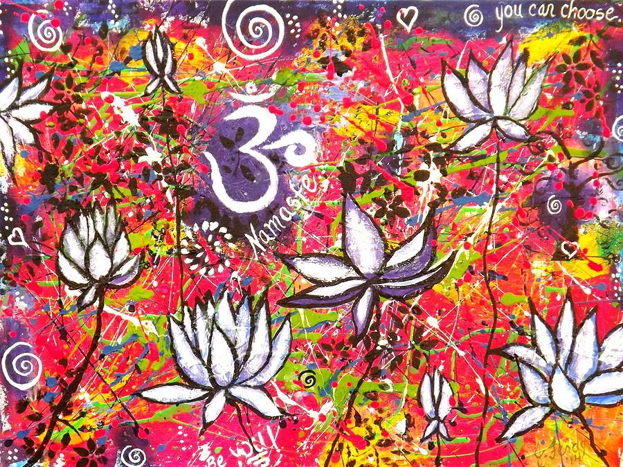 Lotus Flower Painting - Lotus Playground by Goddess Rockstar