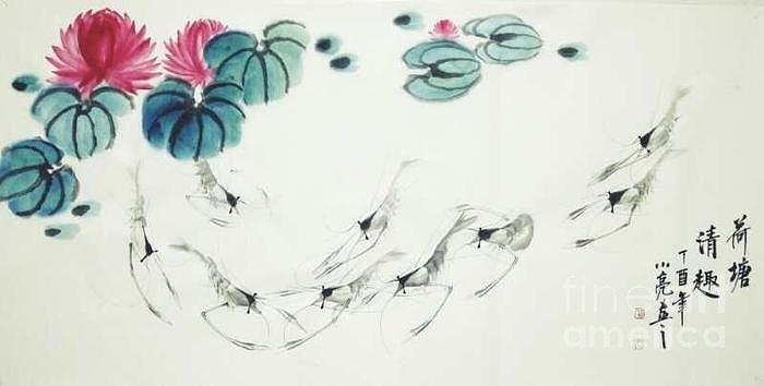 Lotus Pound with Lifes by Li LIANG
