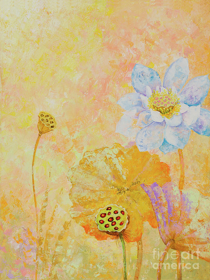 Lotus Painting - Lotus. Right part of the diptych by Yuliya Glavnaya