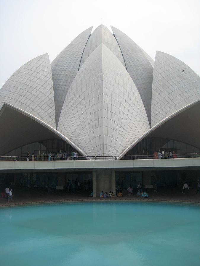 Lotus Temple, New Delhi Photograph by Andrew J Timmis