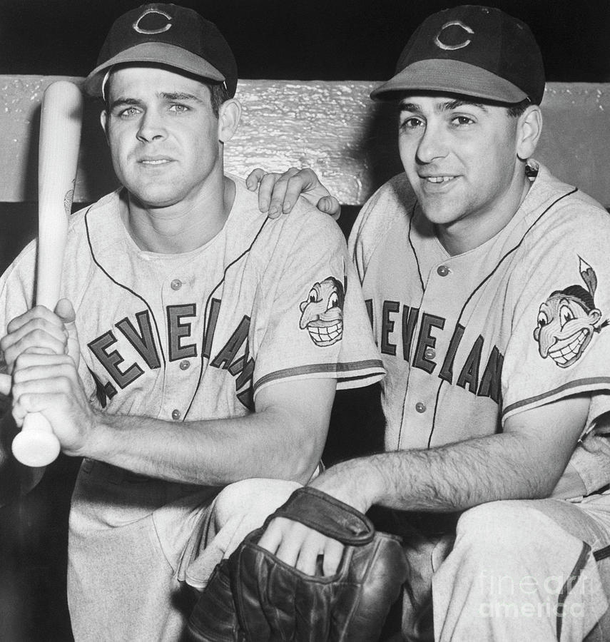 Lou Boudreau And Ray Boone In Uniform Photograph by Bettmann