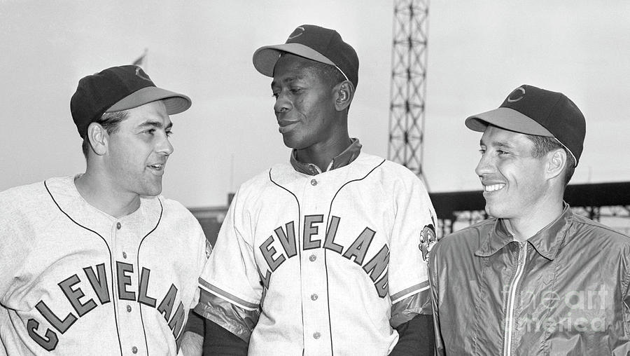 Lou Boudreau, Satchel Paige & Bob Feller Photograph by Bettmann