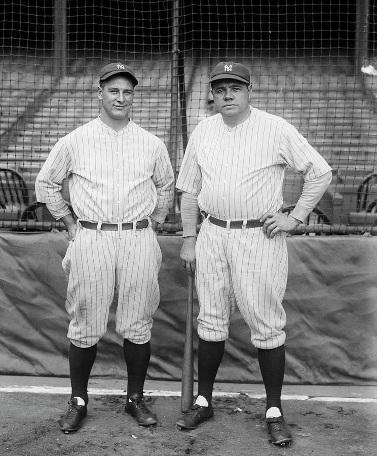 Lou Gehrig And Babe Ruth Photograph by Bettmann