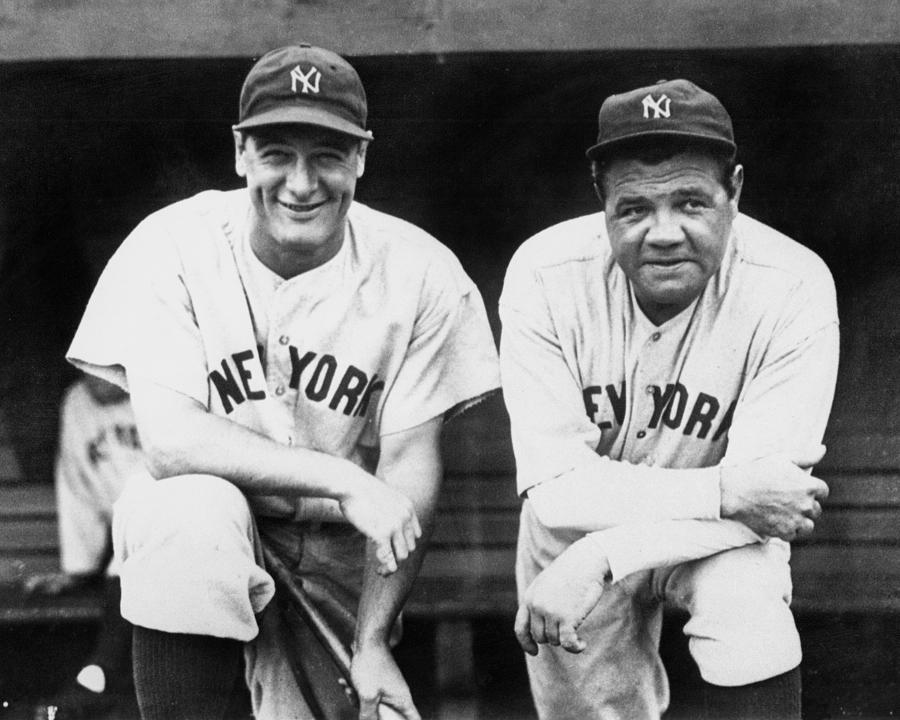 Lou Gehrig And Babe Ruth Team Up For Photograph by New York Daily News Archive