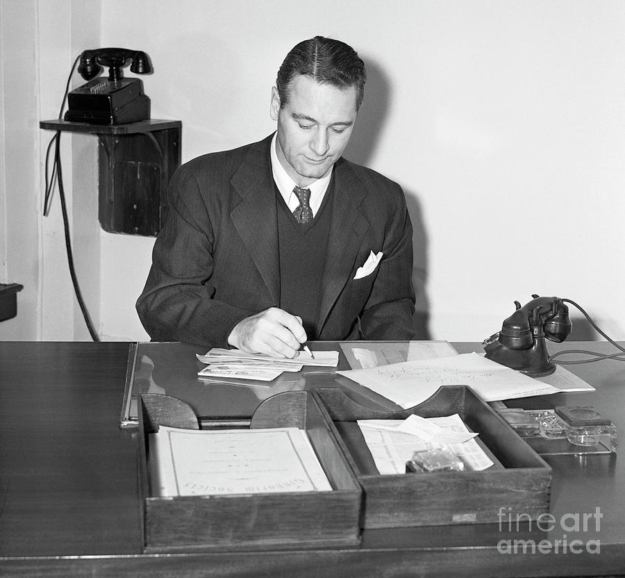 Lou Gehrig Begins Position As New York Photograph by Bettmann