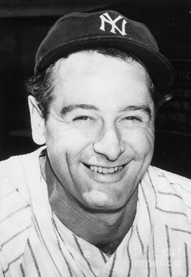 Lou Gehrig Close Portrait Photograph by Transcendental Graphics