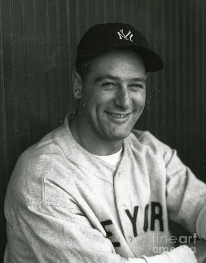 Lou Gehrig Dugout Portrait Photograph by Transcendental Graphics