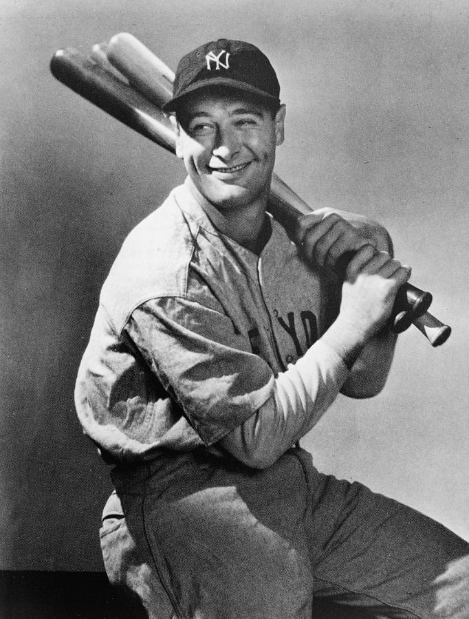 Lou Gehrig Holding Three Baseball Bats Photograph by Pictorial Parade