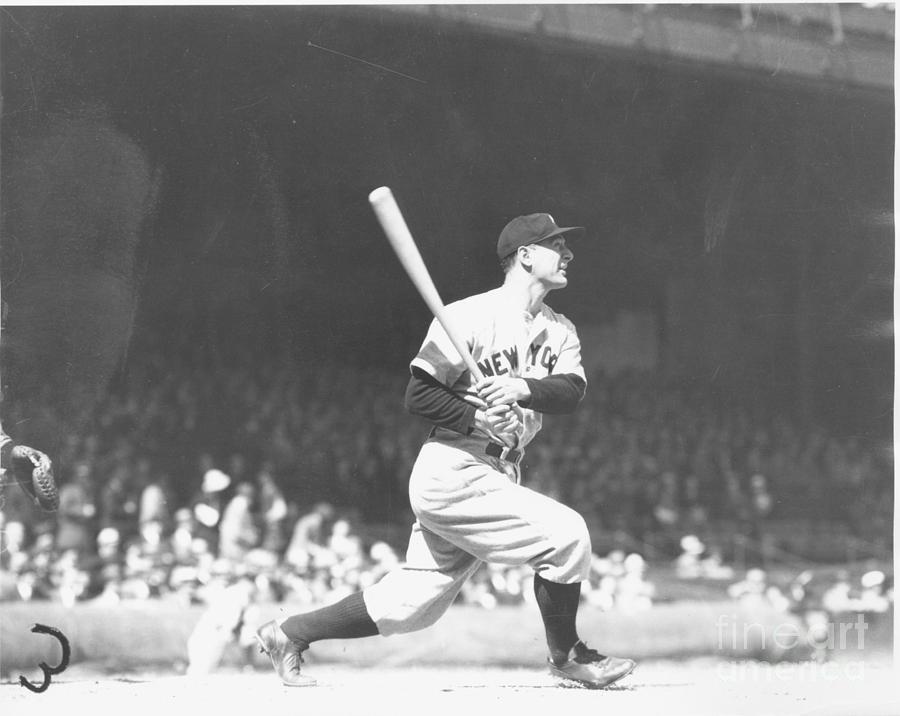Lou Gehrig Photograph by Louis Van Oeyen/ Wrhs