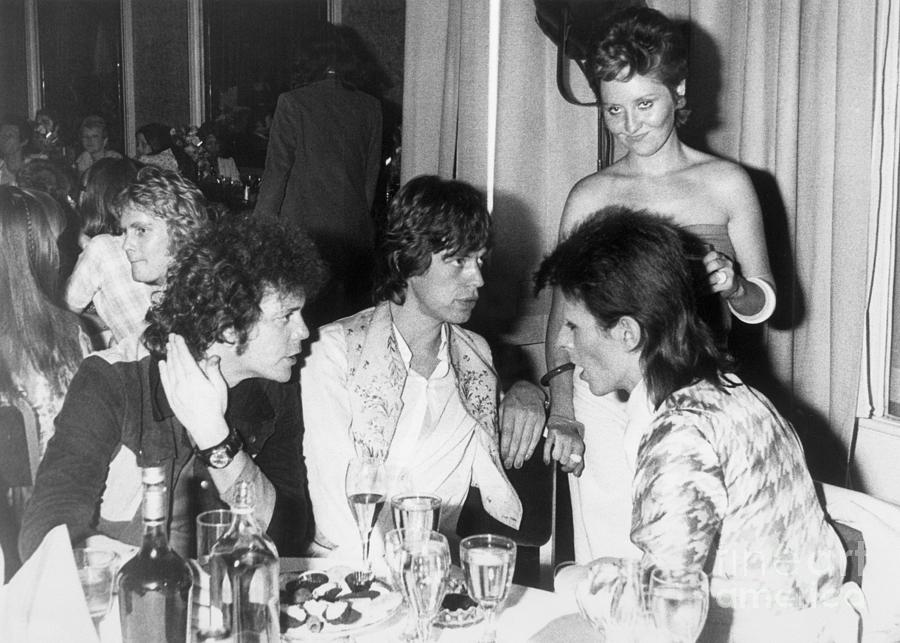 Lou Reed, Mick Jagger, Lulu, And David Photograph by Bettmann
