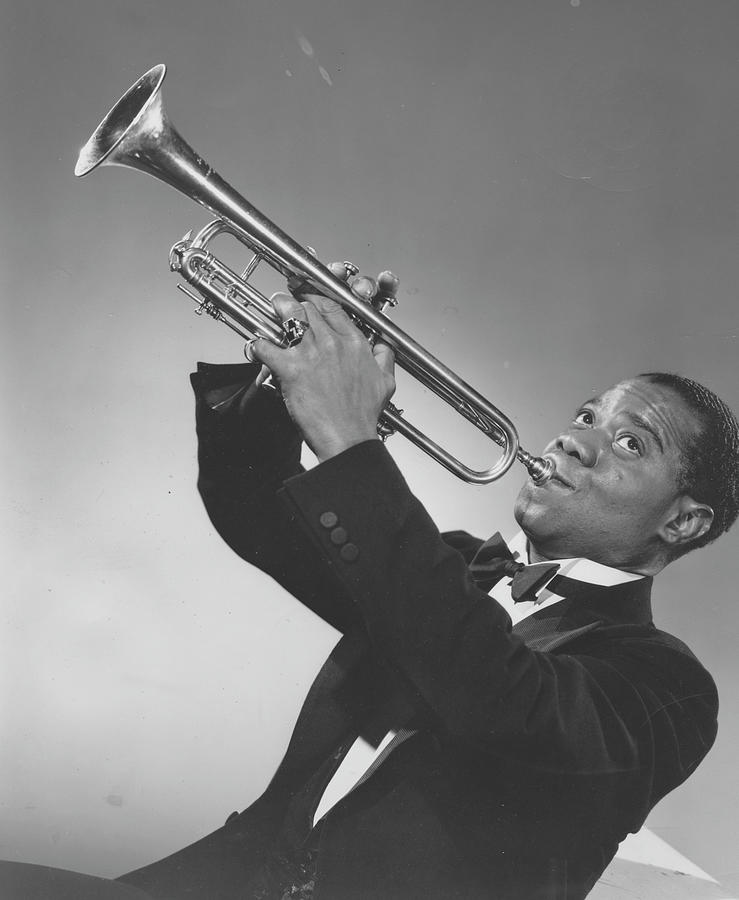 Louis Armstrong Blowing Horn Photograph by Afro Newspaper/gado