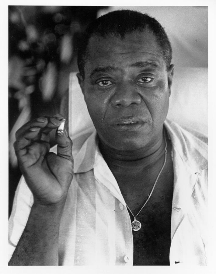 Louis Armstrong Portrait Photograph by Herb Snitzer