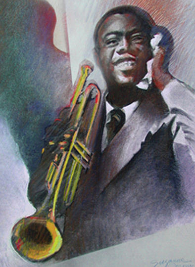 Louis Armstrong  by Suzanne Cerny