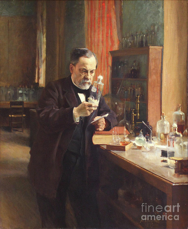 Louis Pasteur. Artist Edelfelt, Albert Drawing by Heritage Images