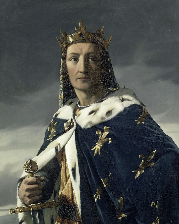 King Painting - Louis Viii, King Of France by Henri Lehmann