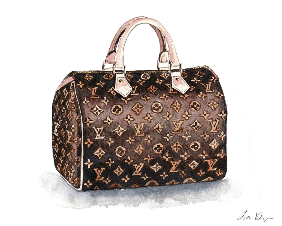 0b340a4413ff Louis Vuitton Monogram Speedy Bag Painting by Laura Row