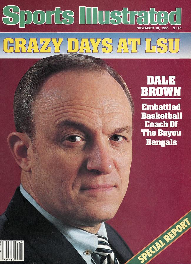 Louisiana State University Coach Dale Brown Sports Illustrated Cover Photograph by Sports Illustrated