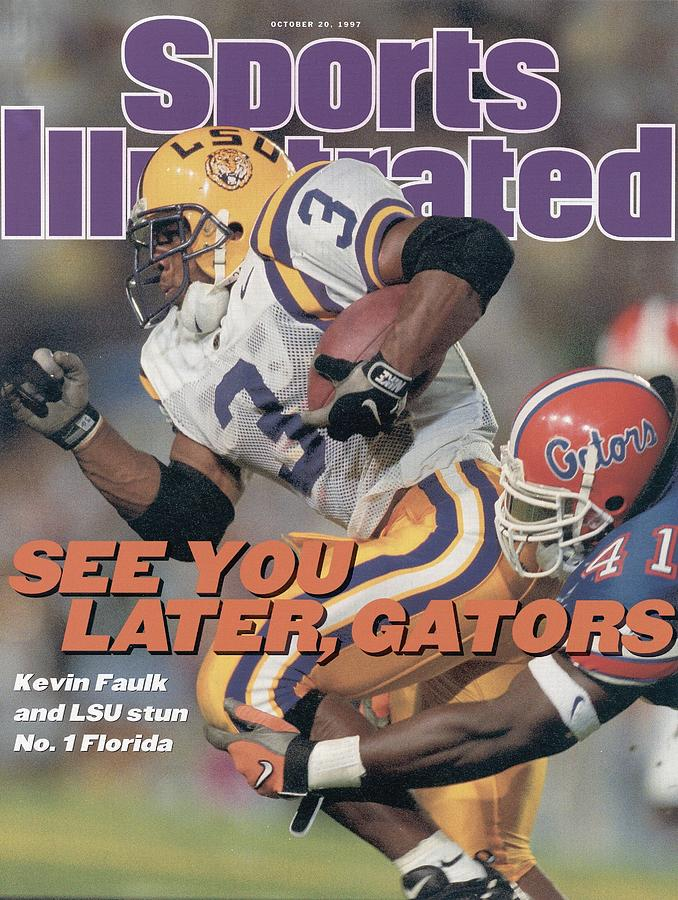 Louisiana State University Kevin Faulk Sports Illustrated Cover Photograph by Sports Illustrated