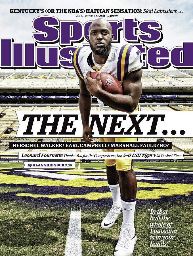 Louisiana State University Leonard Fournette Sports Illustrated Cover Photograph by Sports Illustrated