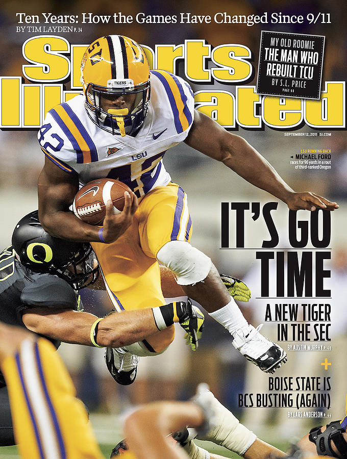 Louisiana State University Vs University Of Oregon Sports Illustrated Cover Photograph by Sports Illustrated