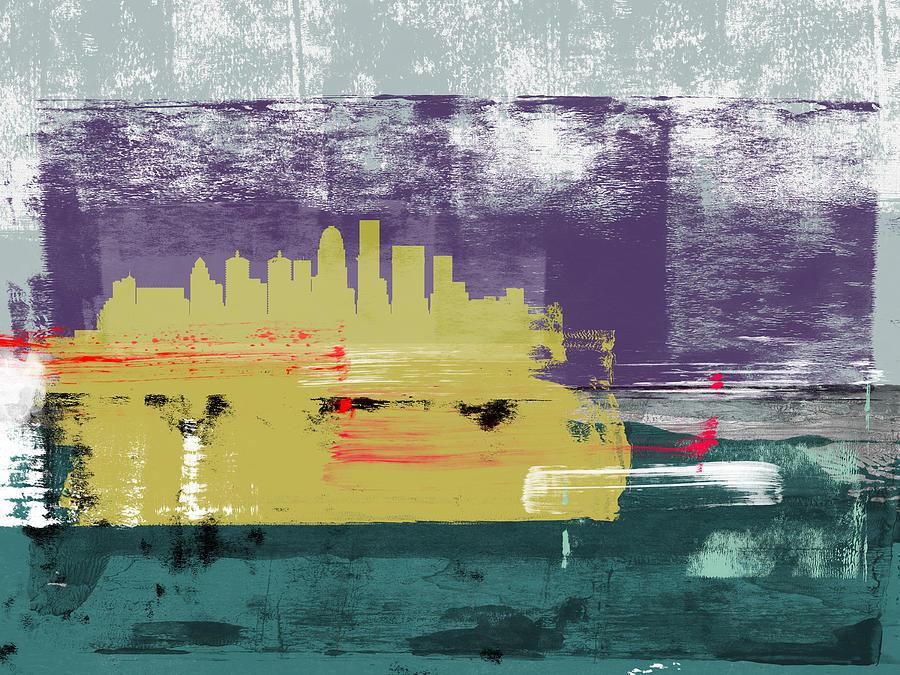 Louisville Mixed Media - Louisville Abstract Skyline II by Naxart Studio