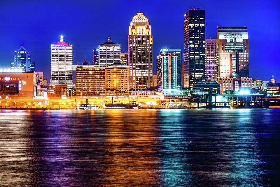 Louisville Ky Skyline At Dusk Photograph