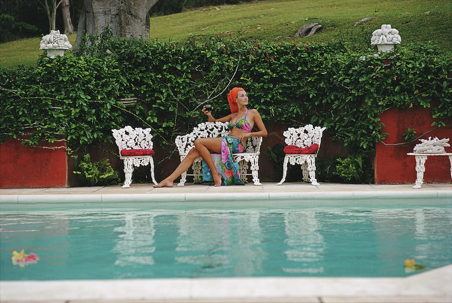 Lounging In Bermuda Photograph by Slim Aarons