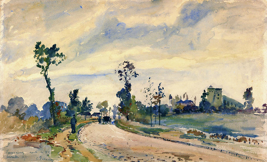 Camille Pissarro Painting - Louveciennes, Road Of Saint-germain - Digital Remastered Edition by Camille Pissarro
