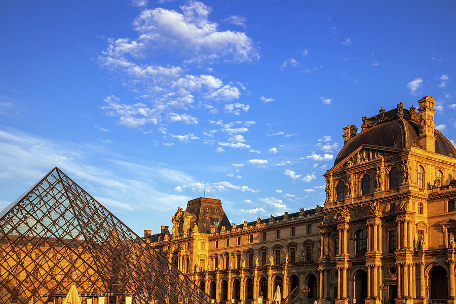 Louvre at Evening by Andrew Soundarajan