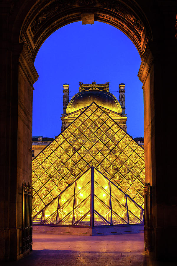 Paris Photograph - Louvre Framed by Andrew Soundarajan