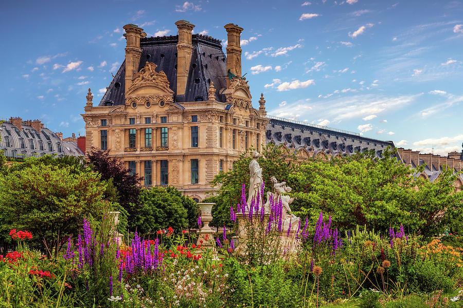 Louvre Garden View by Andrew Soundarajan