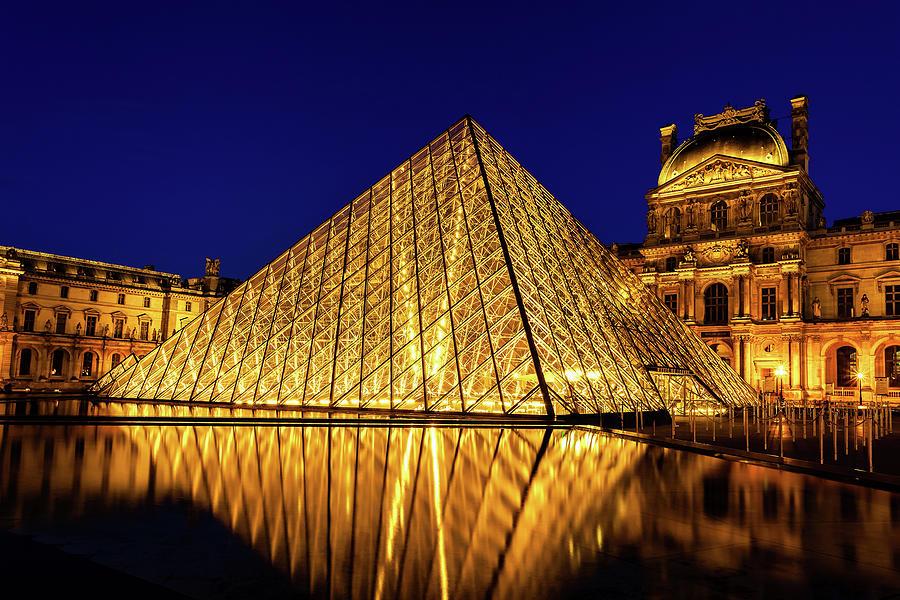 Paris Photograph - Louvre Reflections by Andrew Soundarajan