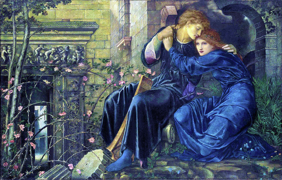 Edward Burne-jones Painting - Love Among The Ruins - Digital Remastered Edition by Edward Burne-Jones