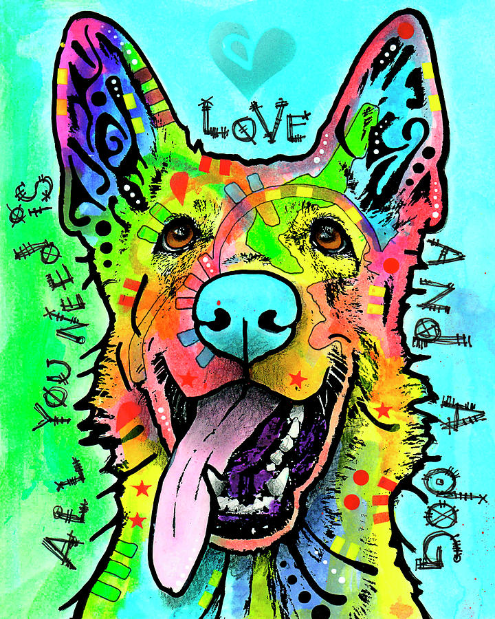 Dog Mixed Media - Love And A Dog by Dean Russo