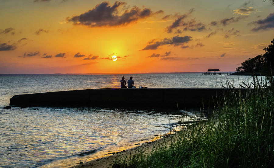 Love at sunset by Jerry Gammon