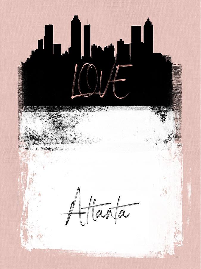 Atlanta Mixed Media - Love Atlanta by Naxart Studio