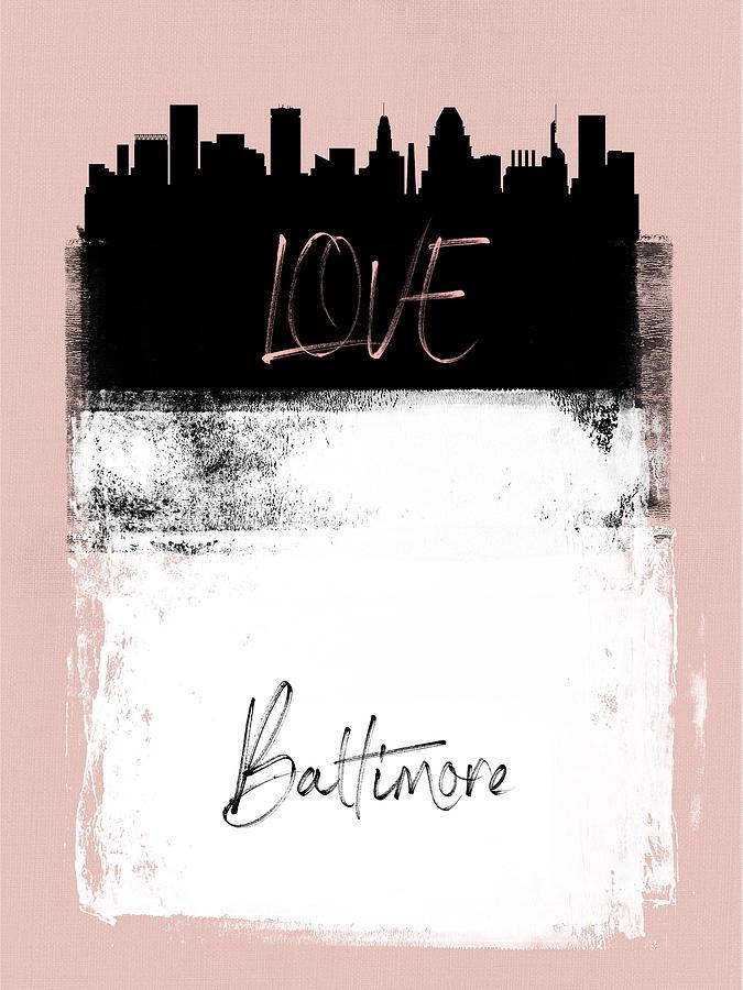 Baltimore Mixed Media - Love Baltimore by Naxart Studio