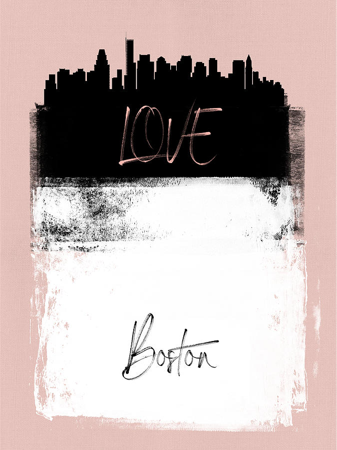 Boston Mixed Media - Love Boston by Naxart Studio
