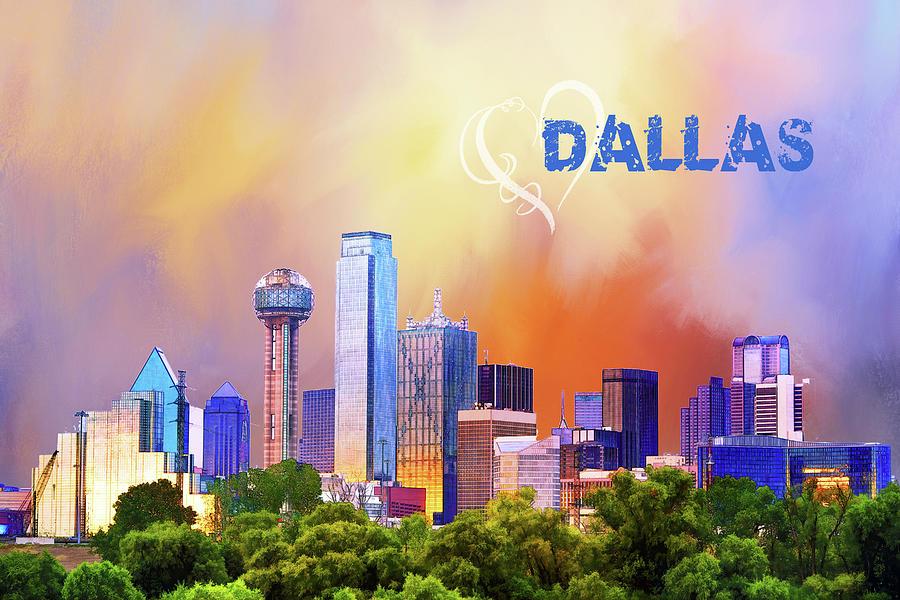 Love Dallas Digital Art