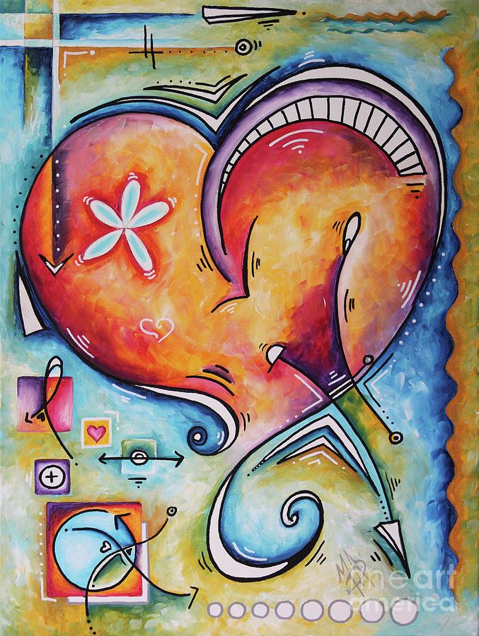 Love Eternal Original Acrylic Heart Love Painting by Megan Duncanson  by Megan Duncanson