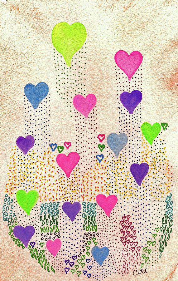 Love Garden Digital Art - Love Garden by Corinne Carroll