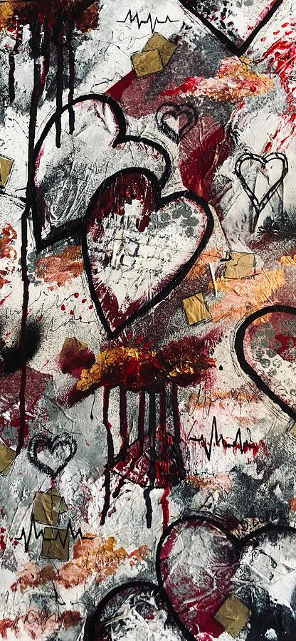 Heart Of Stone Mixed Media - Love Heals by Dayna Lopez