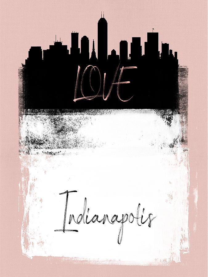 Indianapolis Mixed Media - Love Indianapolis by Naxart Studio